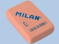 2 X Milan 412 Rectangular Block Eraser For Hb And Soft Grade Pencils Spanish Brand Ebay