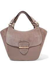 Michael Kors Josie Large Suede And Leather Tote Mushroom