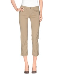 Jaggy Trousers Casual Trousers Women Beige