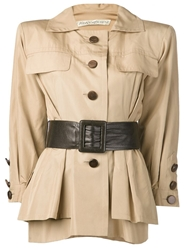 Yves Saint Laurent Vintage Safari Jacket Nude And Neutrals