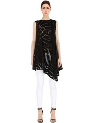 Vionnet Asymmetric Wool And Silk Jersey Top