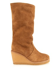 A.P.C. Clara Suede Wedge Boots