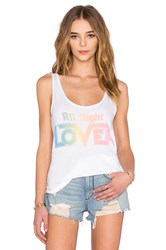 Junk Food All Night Lover Tank White