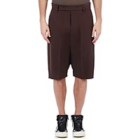 Rick Owens Men's Drop Rise Tailored Pod Shorts Burgundy Brown Burgundy Brown
