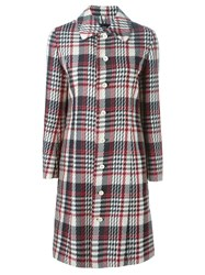 Comme Des Garcons Vintage Tartan Checked Coat Multicolour