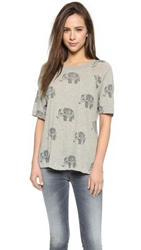Wildfox Couture Roaming Elephant Tee Vintage Lace