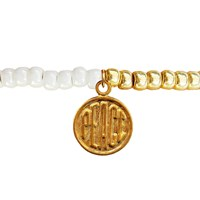 Lucci Charmers Peace Charm Bracelet Pearl White