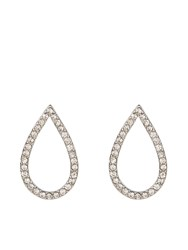 Accessorize Crystal Pave Teardrop Stud Earrings