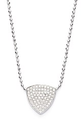 Women's Bony Levy 'Aurora' Diamond Pave Triangle Necklace White Gold Limited Edition Nordstrom Exclusive