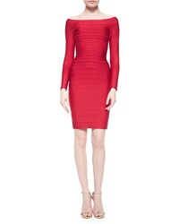 Herve Leger Long Sleeve Bandage Dress