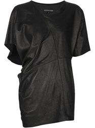 Alexandre Plokhov Side Draped T Shirt Black