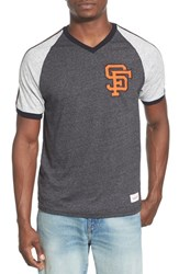 Men's Mitchell And Ness 'San Francisco Giants Race To The Finish' Tailored Fit Raglan Sleeve T Shirt