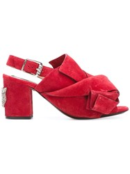 N 21 No21 Knot Detail Sandals Red