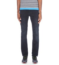Hugo Boss Faded Slim Fit Tapered Jeans Open Blue