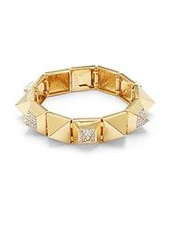 Noir Cubic Zirconia Crystal And 18K Gold Plated Bracelet