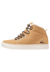 Quiksilver Jax Hightop Trainers Brown White Beige