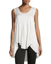 On The Road Libya Crinkled High Low Tank White