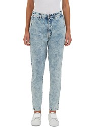 Bassike Low Slung Aged Wash Skinny Jeans Blue