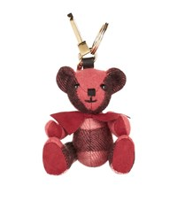 Burberry Shoes And Accessories Thomas Check Bear Charm Female Rose