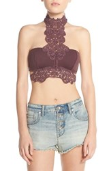 Women's Free People 'Chimera Fancy' Bralette Spiced Plum