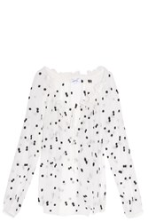 Elizabeth And James Polka Dot Blouse Ivory