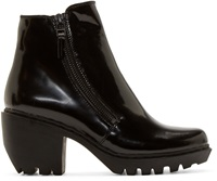 Opening Ceremony Black Grunge Ankle Boots