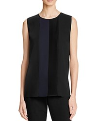 Magaschoni Ponte Relaxed Blouse Black Midnight Comb