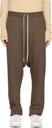 Rick Owens Grey Satin Drawstring Sarouel Lounge Pants