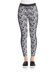 Guess Lace Sport Leggings Black White
