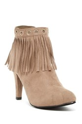Bucco Elspeth Faux Fur Lined Heeled Bootie Brown