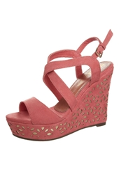 Xti High Heeled Sandals Coral Red
