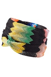 Missoni Mare Crochet Knit Headband Multicolor