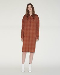 Aalto Eyelet Shirt Dress Rust