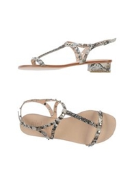 Bibi Lou Thong Sandals Light Grey