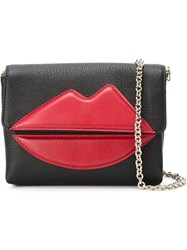 Sara Battaglia 'Lips' Cross Body Bag Black