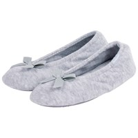 Totes Terry Ballet Slippers Grey