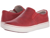 Born Richie Kiss Waxed Suede Women's Slip On Shoes Red