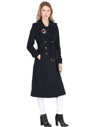 Tommy X Gigi Hadid Long Wool Blend Military Coat