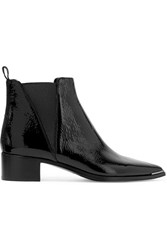 Acne Studios Jensen Patent Leather Ankle Boots Black