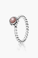 Pandora Design Women's Pandora 'Birthday Blooms' Ring October Pink Opal