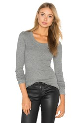 Heather Rib Long Sleeve Grey