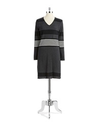 Spense V Neck Sweater Dress Grey