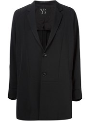 Y's Long Length Blazer Black