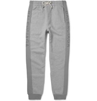 Balenciaga Slim Fit Tapered Fleece Back Cotton Jersey Sweatpants Gray