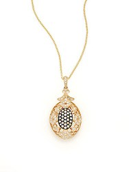 Effy 14K Yellow Gold Brown And White Diamond Pendant Necklace