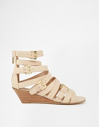 Bronx Multi Strap Wedge Sandals Naturalleather