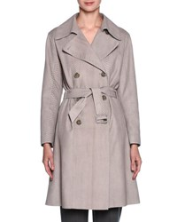 Giorgio Armani Sueded Python Belted Trenchcoat Beige