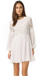Endless Rose Woven Lace Combo Dress White