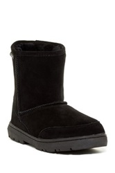 Bearpaw Patriot Bleached And Dyed Genuine Sheepskin Lined Boot Black