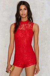 Nasty Gal Stuck On You Lace Romper